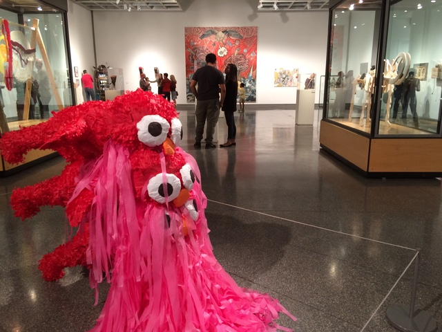 An untitled piece in Skull, referred to as cascading Elmos and created by Justin Favela, is seen Oct. 21, 2016, at The Studio inside Sahara West Library. Jan Hogan/View