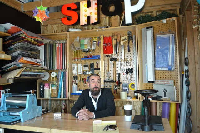 """Independent bookstore owner Scott Seeley says small businesses like his downtown Las Vegas shop, The Writer's Block, do a better job connecting with customers than bigger stores. """"We get to kn ..."""