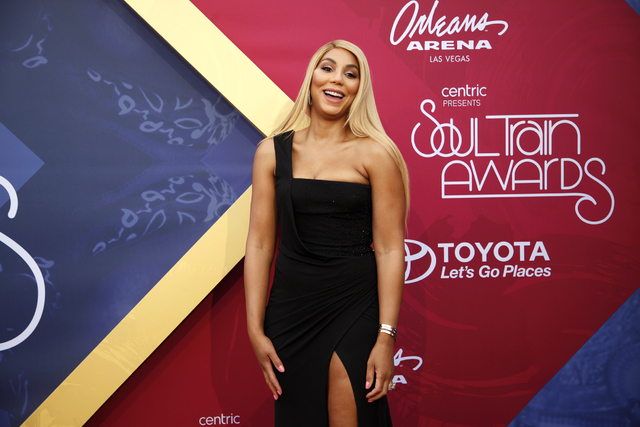 Tamar Braxton walks the red carpet at the Soul Train Music Awards on Sunday, Nov. 6, 2016, at the New Orleans Arena in Las Vegas. (Rachel Aston/Las Vegas Review-Journal Follow @rookie__rae)