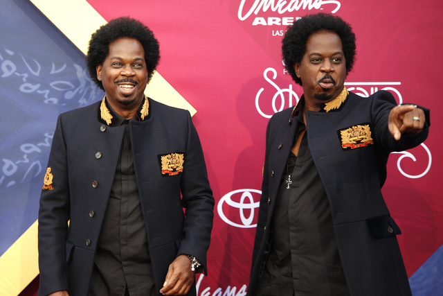 Alvin and Calvin Waters walk the red carpet at the Soul Train Music Awards on Sunday, Nov. 6, 2016, at the New Orleans Arena in Las Vegas. (Rachel Aston/Las Vegas Review-Journal Follow @rookie__rae)