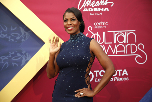 Omarosa Manigault walks the red carpet at the Soul Train Music Awards on Sunday, Nov. 6, 2016, at the New Orleans Arena in Las Vegas. (Rachel Aston/Las Vegas Review-Journal Follow @rookie__rae)