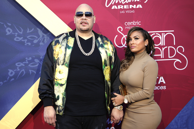 Fat Joe and his wife walk the red carpet at the Soul Train Music Awards on Sunday, Nov. 6, 2016, at the New Orleans Arena in Las Vegas. (Rachel Aston/Las Vegas Review-Journal Follow @rookie__rae)