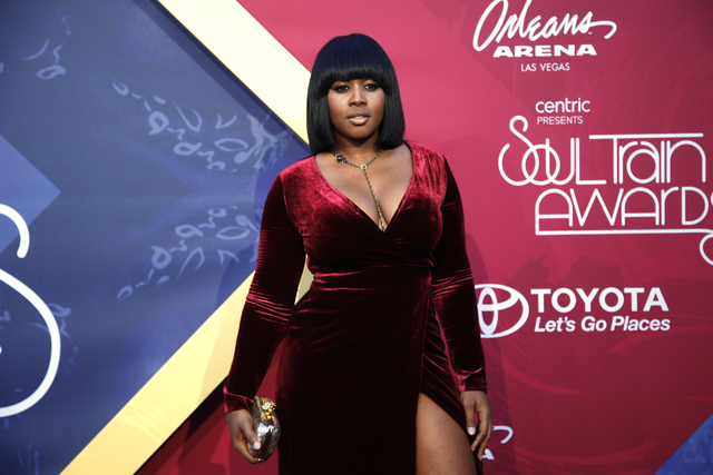 Remy Ma walks the red carpet at the Soul Train Music Awards on Sunday, Nov. 6, 2016, at the New Orleans Arena in Las Vegas. (Rachel Aston/Las Vegas Review-Journal Follow @rookie__rae)