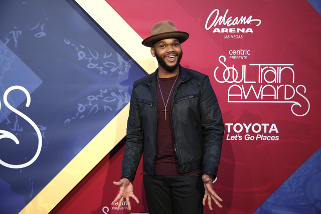 Not Carlton Banks walks the red carpet at the Soul Train Music Awards on Sunday, Nov. 6, 2016, at the New Orleans Arena in Las Vegas. (Rachel Aston/Las Vegas Review-Journal Follow @rookie__rae)