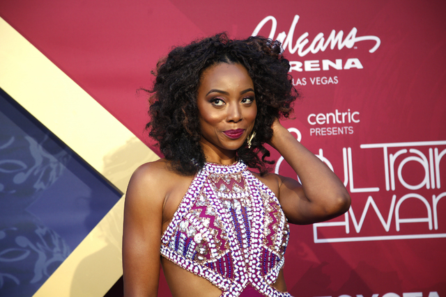 Erica Ash walks the red carpet at the Soul Train Music Awards on Sunday, Nov. 6, 2016, at the New Orleans Arena in Las Vegas. (Rachel Aston/Las Vegas Review-Journal Follow @rookie__rae)