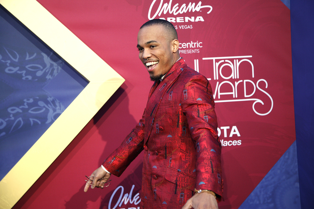Anderson .Paak walks the red carpet at the Soul Train Music Awards on Sunday, Nov. 6, 2016, at the New Orleans Arena in Las Vegas. (Rachel Aston/Las Vegas Review-Journal Follow @rookie__rae)