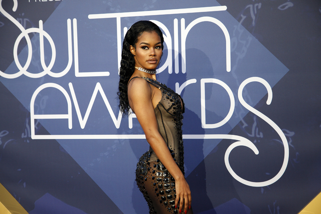 Teyana Taylor walks the red carpet at the Soul Train Music Awards on Sunday, Nov. 6, 2016, at the New Orleans Arena in Las Vegas. Rachel Aston/Las Vegas Review-Journal Follow @rookie__rae