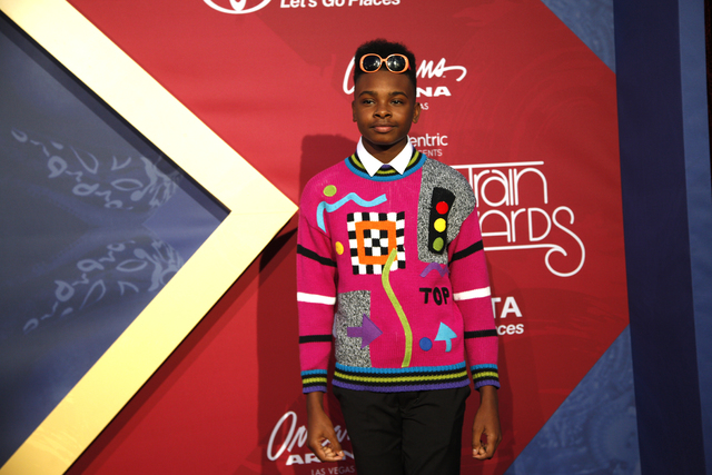 Jay Versace walks the red carpet at the Soul Train Music Awards on Sunday, Nov. 6, 2016, at the New Orleans Arena in Las Vegas. (Rachel Aston/Las Vegas Review-Journal Follow @rookie__rae)