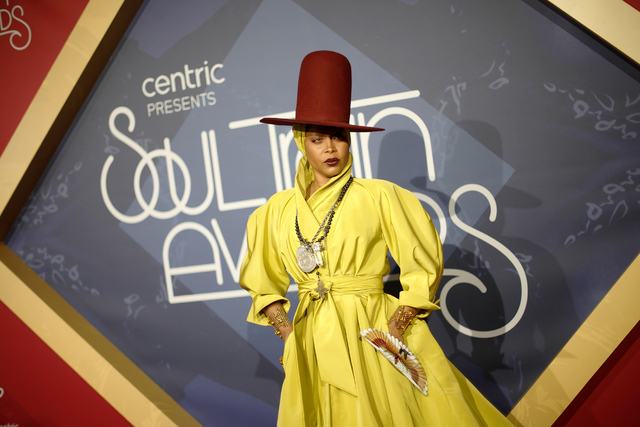 Erykah Badu the red carpet at the Soul Train Music Awards on Sunday, Nov. 6, 2016, at the New Orleans Arena in Las Vegas. Rachel Aston/Las Vegas Review-Journal Follow @rookie__rae