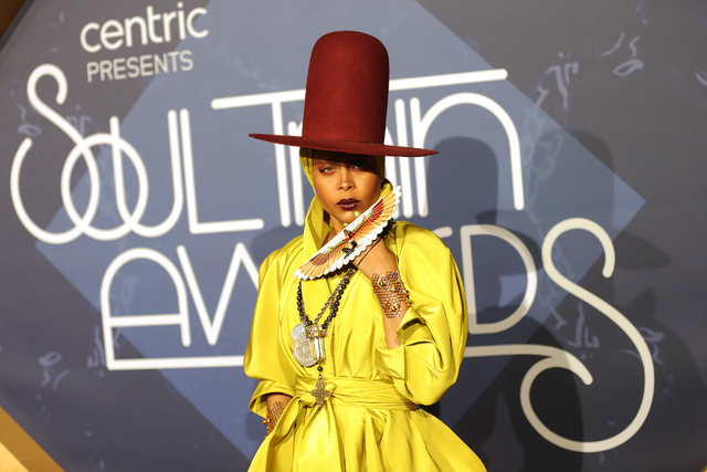 Erykah Badu walks the red carpet at the Soul Train Music Awards on Sunday, Nov. 6, 2016, at the New Orleans Arena in Las Vegas. (Rachel Aston/Las Vegas Review-Journal Follow @rookie__rae)