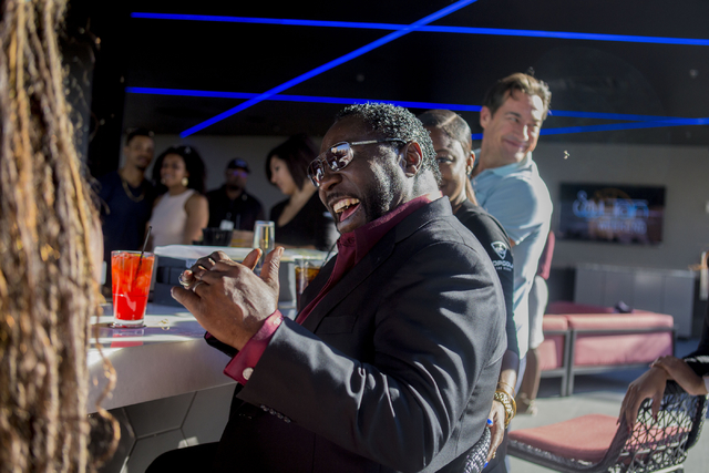 """Singer Edward """"Eddie"""" Levert laughs at Topgolf Las Vegas for the """"Soul Lunch & Greens,"""" a benefit for the Don Cornelius Foundation Friday, Nov. 4, 2016. Elizabeth Page Brumley/Las Vegas Review ..."""