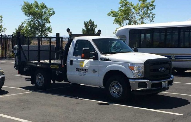 The truck North Las Vegas police said Alonso Perez stole after his escape. The truck has been recovered. (courtesy North Las Vegas Police Department)