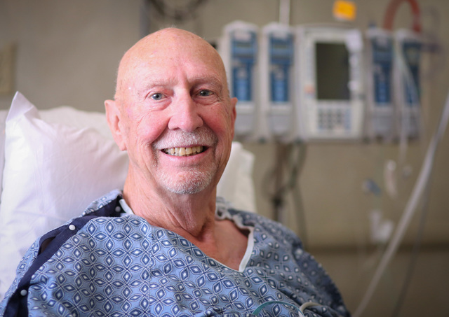 Gary Wilson, 79, poses for a photo as he recovers from a heart surgery at Sunrise Hospital & Medical Center in Las Vegas on Thursday, Nov. 3, 2016. (Brett Le Blanc/Las Vegas Review-Journal Fol ...