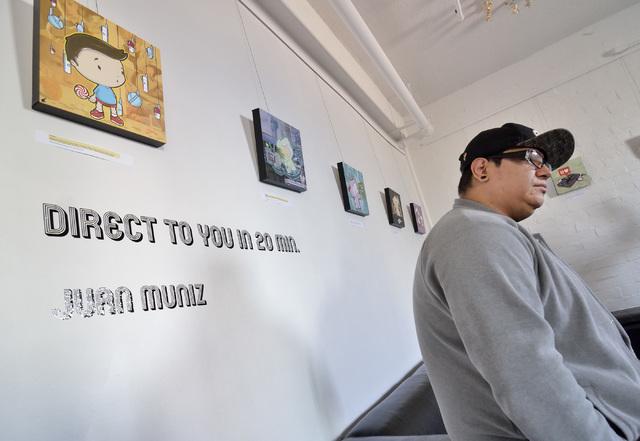 Artist Juan Muniz is shown at the Sin City Gallery in the Arts Factory at 107 E. Charleston Blvd. Oct. 26, 2016. Bill Hughes/View