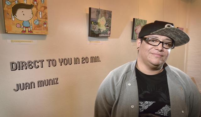 Artist Juan Muniz is seen at the Sin City Gallery in the Arts Factory at 107 E. Charleston Blvd. on Oct. 26, 2016. Bill Hughes/View