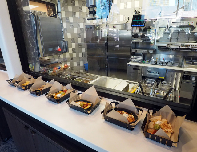 A selection of menu items are seen at the new Taco Bell Cantina in the Harmon Center in Las Vegas, Monday, Nov. 14, 2016. (Jerry Henkel/Las Vegas Review-Journal)