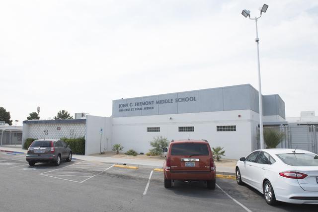 Fremont Middle School, 1100 E. St. Louis Ave., in Las Vegas, Friday, June 26, 2015. (Jason Ogulnik/Las Vegas Review-Journal)