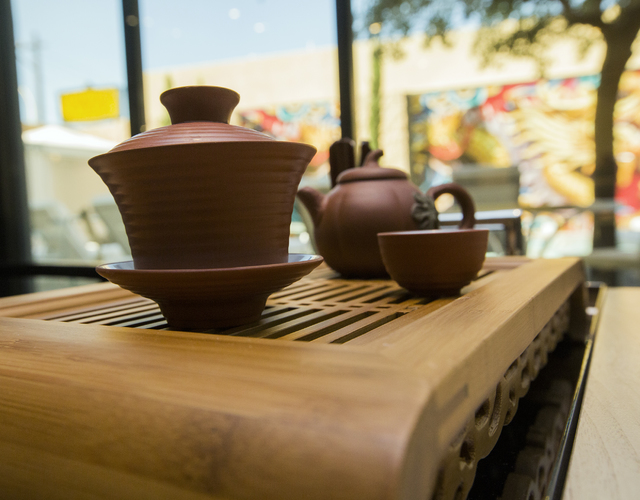 Cha Garden in the Lucky Dragon has 50 different teas from generations-old tea farms throughout Asia. (Jeff Scheid/Las Vegas Review-Journal Follow @jeffscheid)