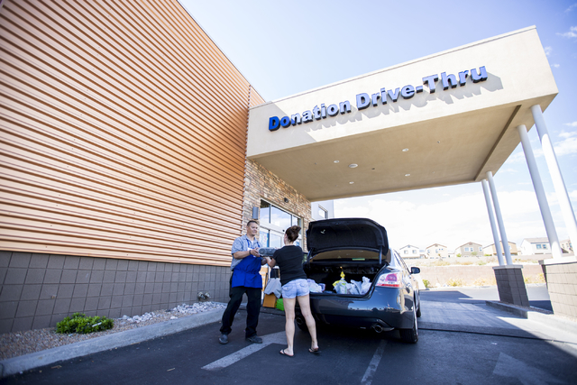 A Goodwill donation is made at the Goodwill Centennial Retail Store, Friday, Sept. 30, 2016, in Las Vegas. Elizabeth Page Brumley/Las Vegas Review-Journal Follow @ELIPAGEPHOTO