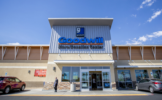 People come and go from the the Goodwill Centennial Retail Store, Friday, Sept. 30, 2016, in Las Vegas. Elizabeth Page Brumley/Las Vegas Review-Journal Follow @ELIPAGEPHOTO