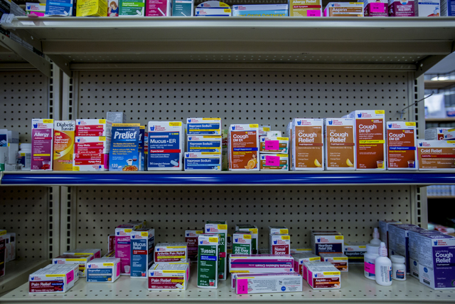 Medicines are for sale at Opportunity Village Thrift Shop in the shop at Decatur Meadows Center, Friday, Sept. 30, 2016, in Las Vegas. Elizabeth Page Brumley/Las Vegas Review-Journal Follow @ELIPA ...