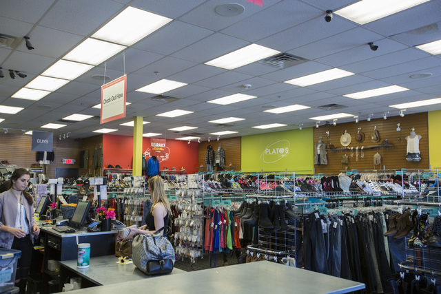 Clothes are dropped off for sale at Plato's Closet in Centennial Center, Friday, Sept. 30, 2016, in Las Vegas. Elizabeth Page Brumley/Las Vegas Review-Journal Follow @ELIPAGEPHOTO