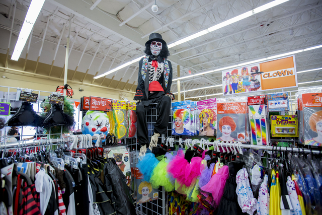 Costumes are displayed for purchase at Savors, W Lake Mead Blvd. and Harbor Cliff drive Friday, Sept. 30, 2016, in Las Vegas. Elizabeth Page Brumley/Las Vegas Review-Journal Follow @ELIPAGEPHOTO
