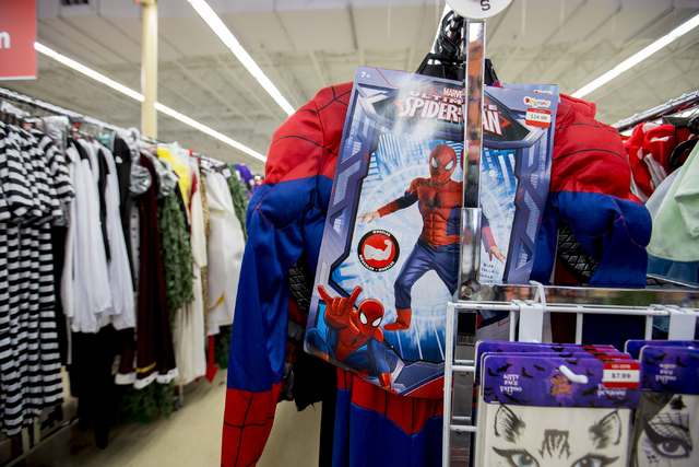 Costumes are displayed for purchase at Savors, W Lake Mead Blvd. and Harbor Cliff Drive, Friday, Sept. 30, 2016, in Las Vegas. Elizabeth Page Brumley/Las Vegas Review-Journal Follow @ELIPAGEPHOTO
