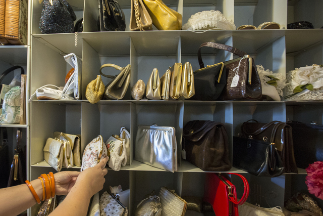 Vintage purses and clutches are organized at Glam Factory Village, Friday, Sept. 30, 2016, in Las Vegas. Elizabeth Page Brumley/Las Vegas Review-Journal Follow @ELIPAGEPHO