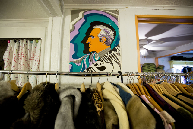 Vintage coats are displayed for sale at Glam Factory Village, Friday, Sept. 30, 2016, in Las Vegas. Elizabeth Page Brumley/Las Vegas Review-Journal Follow @ELIPAGEPHO