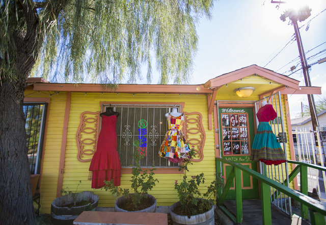 The exterior of Glam Factory Village, Friday, Sept. 30, 2016, in Las Vegas. Elizabeth Page Brumley/Las Vegas Review-Journal Follow @ELIPAGEPHO