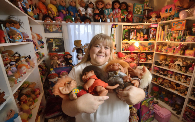Cheryl Gafforini is shown with part of her troll collection at her home in Henderson on Tuesday, Oct. 25, 2016. Bill Hughes/Las Vegas Review-Journal