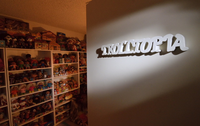 "A room called ""Trolltopia"" houses part of Cheryl Gafforini's troll collection at her home in Henderson on Tuesday, Oct. 25, 2016. Bill Hughes/Las Vegas Review-Journal"