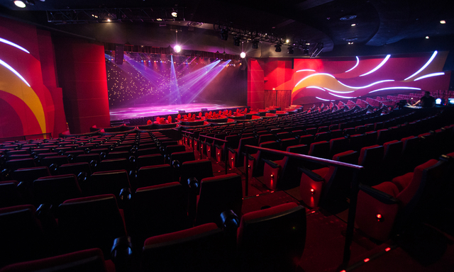 The renovated Tropicana Theater at Tropicana Las Vegas is shown on Monday, Nov. 25, 2013. (Chase Stevens/Las Vegas Review-Journal)