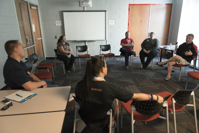 UNLV students and staff participate in a forum held at the school to discuss the outcome of the presidential election in Las Vegas, Friday, Nov. 11, 2016. Jason Ogulnik/Las Vegas Review-Journal