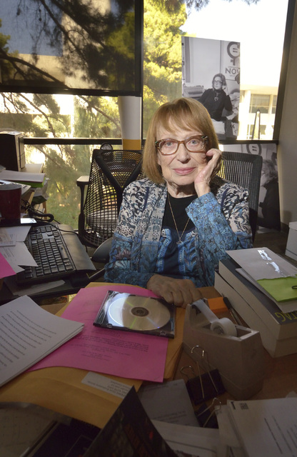 English professor Felicia Campbell is shown in her office in the Beverly Rogers Literature and Law Building at UNLV at 4505 S. Maryland Parkway in Las Vegas on Tuesday, Oct. 26, 2016. Bill Hughes/ ...