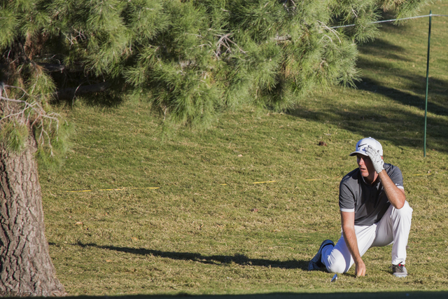 Russell Henley watches his second shot on the 9th hole during the  Shriners Hospitals for Children Open on Friday, Nov. 4, 2016. Jeff Scheid/Las Vegas Review-Journal Follow @jeffscheid