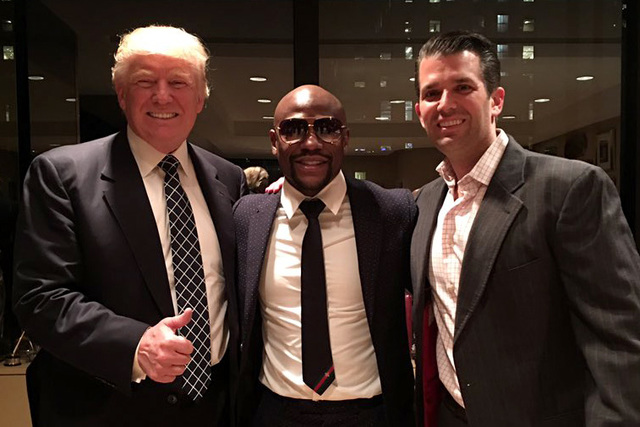Boxer Floyd Mayweather met with President-elect Donald Trump and his son  Donald Trump Jr