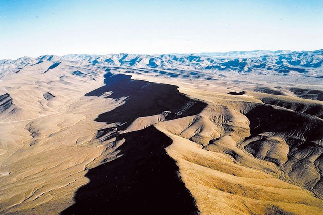 An aerial view of Yucca Mountain. (Las Vegas Review-Journal file photo)