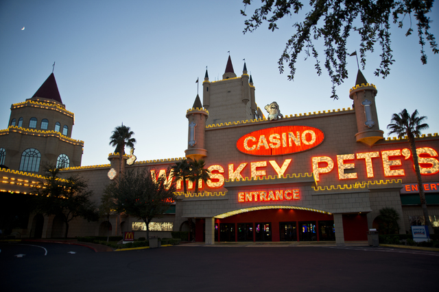 Whiskey Pete's hotel-casino in Primm is seen at sunset on Friday, Nov. 4, 2016. Renovations were recently completed as part of a plan to revitalize the property. (Daniel Clark/Las Vegas Review-Jou ...