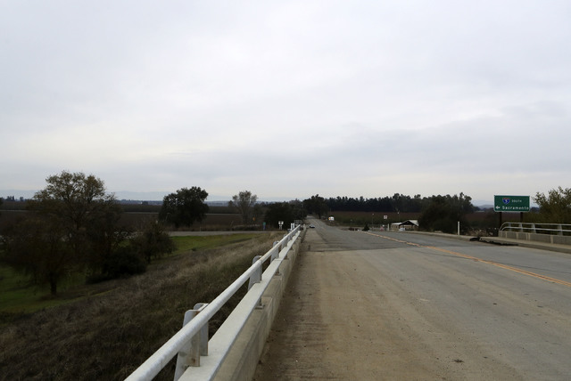 A section of road along County Road 17 from the Interstate 5 overpass in Redding, Calif., shown on Friday, Nov. 25, 2016, is where Sherry Papini, a 34-year-old wife and mother was found on Thanksg ...