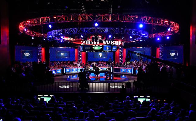 The final table at the 2016 World Series of Poker Main Event at the Rio hotel-casino, Tuesday, Nov. 1, 2016, in Las Vegas. David Becker/Las Vegas Review-Journal Follow @davidjaybecker