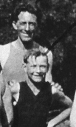 John Gregory Tierney and his son, Patrick, pose together in an undated photo from 1916, when the father would have been about 31 and the boy around 6. (Boulder City/Hoover Dam Museum)
