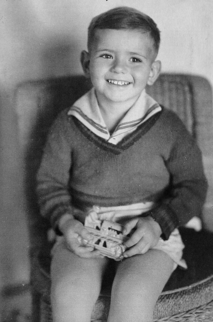 Patrick Gregory Tierney, 3, smiles for a photograph taken in Boulder City in 1935, the year his father, Patrick William Tierney, fell to his death at the Hoover Dam construction site. (Boulder Cit ...