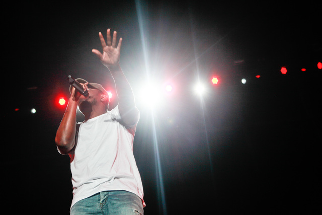 Kendrick Lamar performs during the Life is Beautiful festival in downtown Las Vegas on Sunday, Sept. 27, 2015. Chase Stevens/Las Vegas Review-Journal Follow @csstevensphoto