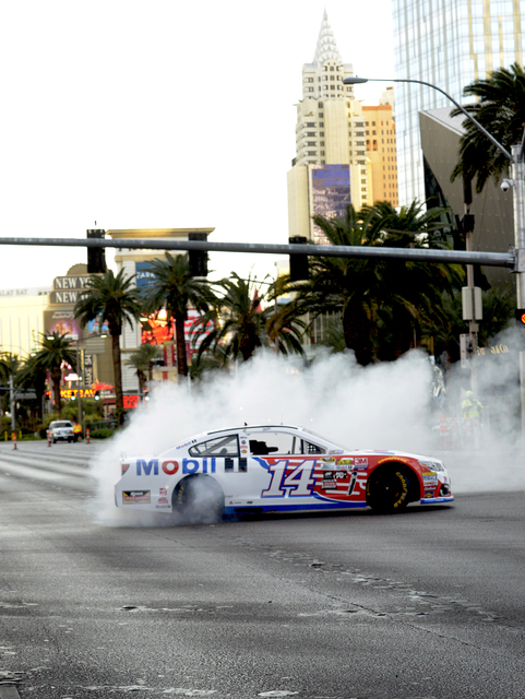 NASCARs Sprint Cup Series Champions shut down the Las Vegas Strip on Dec. 1 to take a victory lap and do burnouts on the famed boulevard as part of Champions Week in Las Vegas. Thursday, December  ...