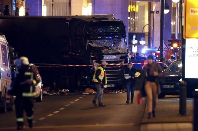 A truck is seen near the Christmas market in Berlin, Germany December 19, 2016. (Fabrizio Bensch/Reuters)