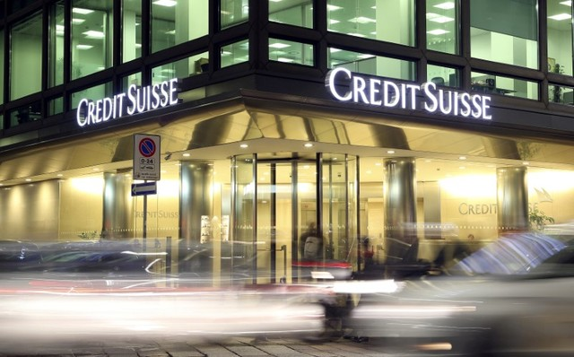 The Credit Suisse logo is seen at the headquarters in downtown Milan, Italy, March 9, 2016. (Stefano Rellandini/File, Reuters)