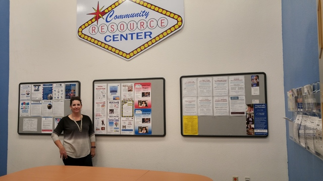 Spring Valley Library Branch Manager Nikki Winslow stands inside the library's new Community Resource Center on Nov. 21, 2016. Rocio Hernandez/View