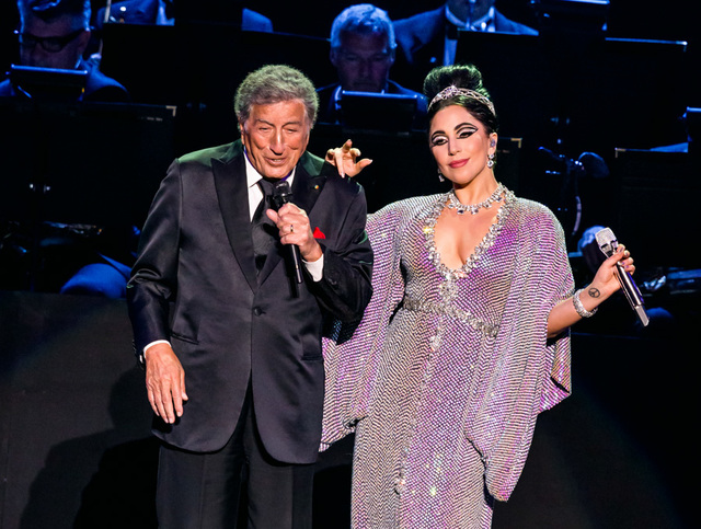 Tony Bennett & Lady Gaga perform at The Axis at Planet Hollywood Resort & Casino in Las Vegas, NV on April 10, 2015. (Courtesy, Erik Kabik)